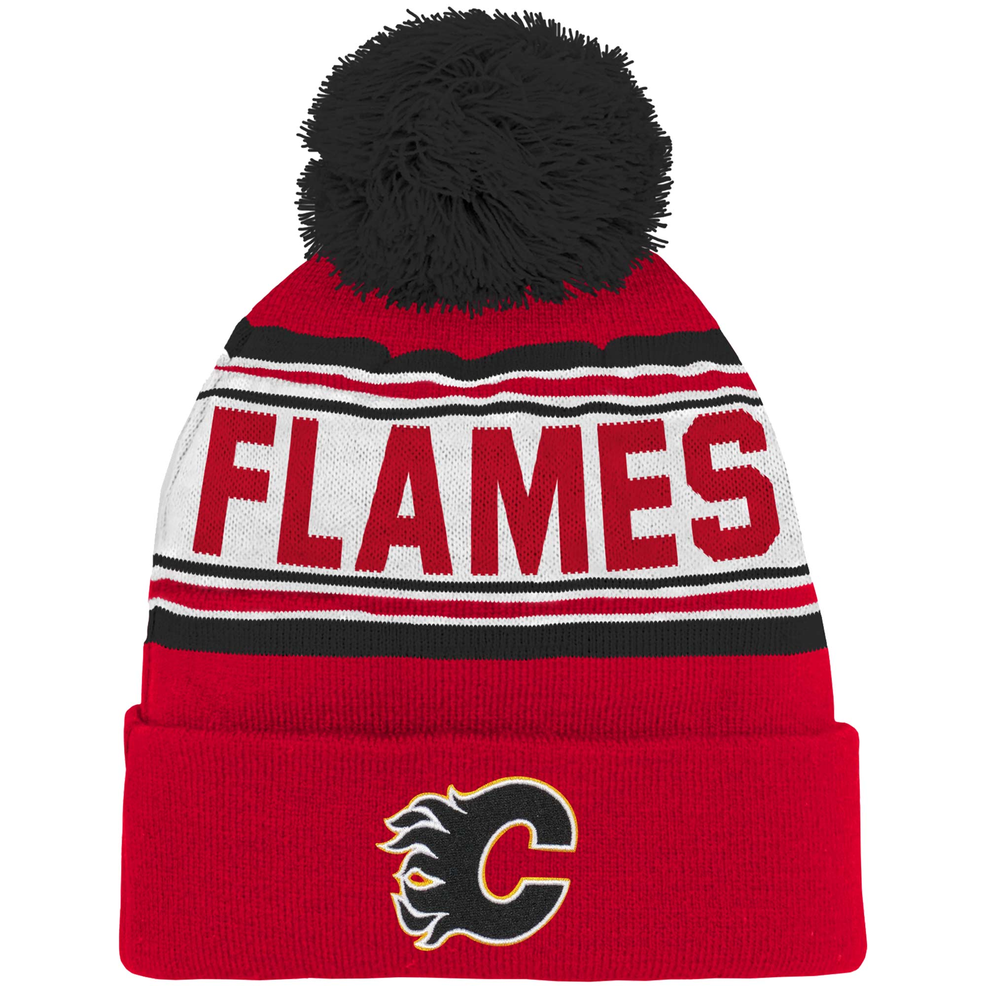 Adidas Dětská zimní čepice Calgary Flames NHL Wordmark Cuffed