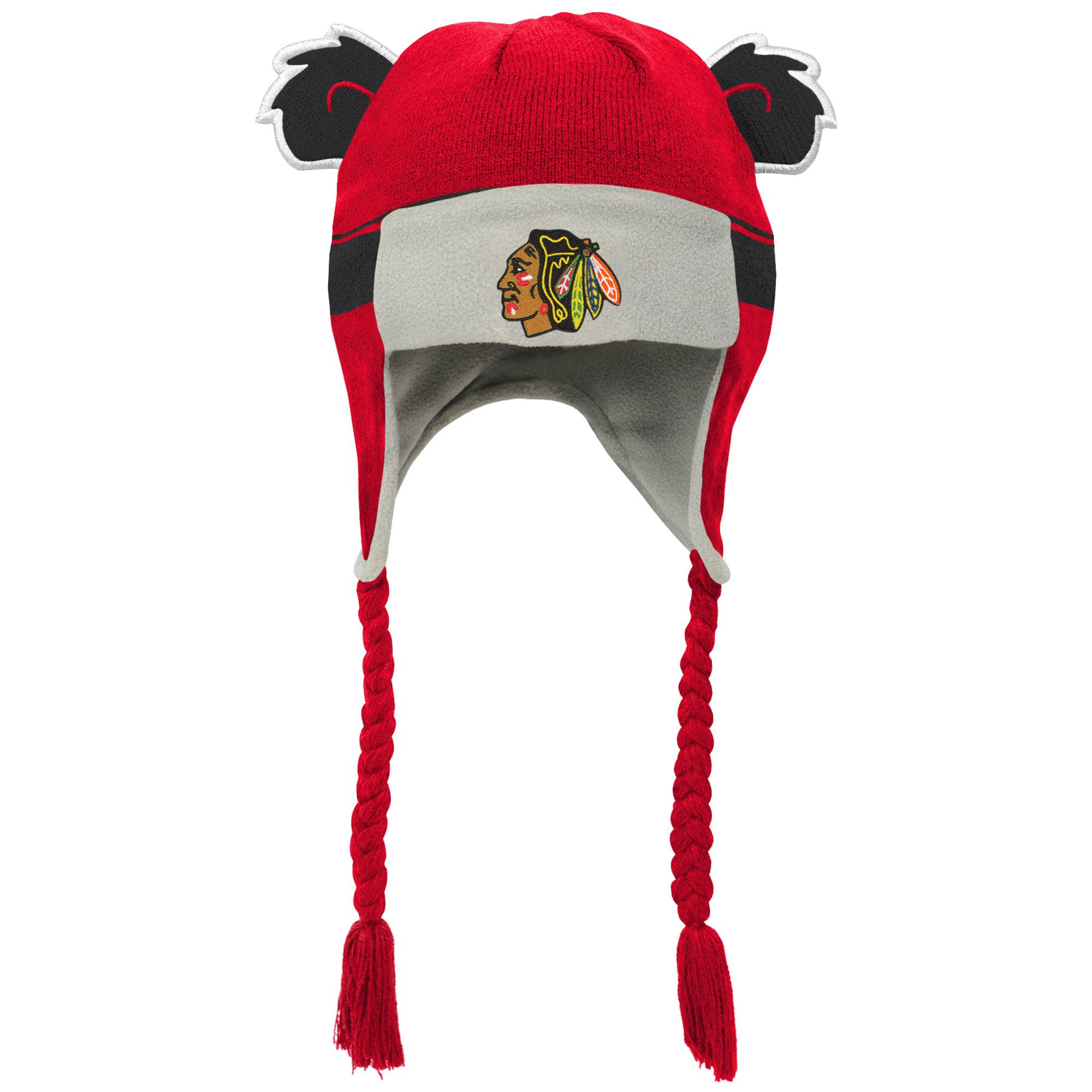 promo code 4a19a 18561 Outerstuff Dětská Beranice zimní čepice Chicago Blackhawks NHL Stripe Ears  Trooper