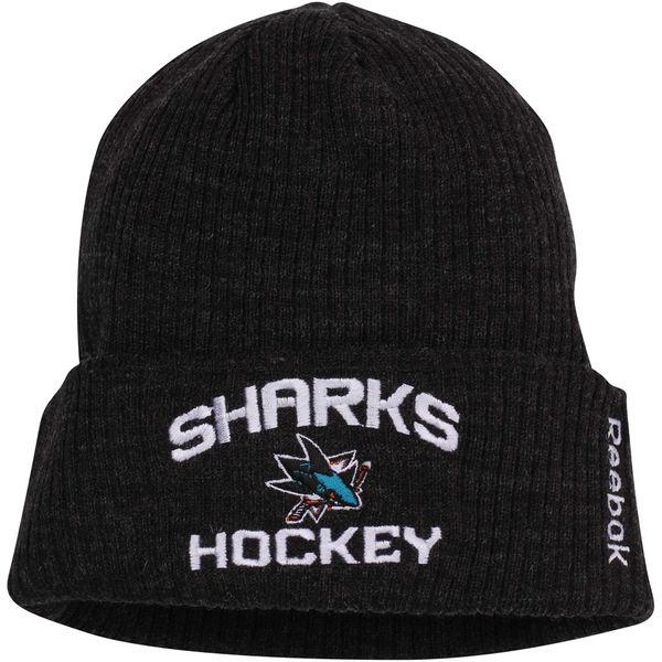 Reebok Zimní Čepice San Jose Sharks Locker Room Cuffed Knit