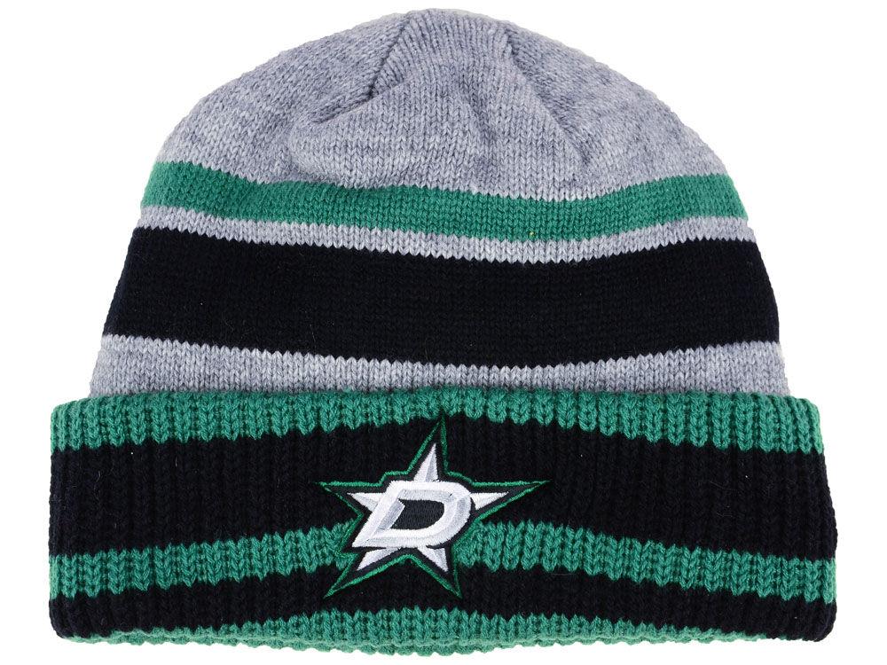 Zimní čepice Dallas Stars adidas NHL Heathered Grey Beanie