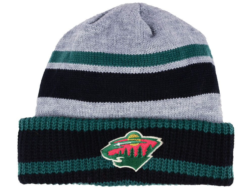 Zimní čepice Minnesota Wild adidas NHL Heathered Grey Beanie 3cfedd1580