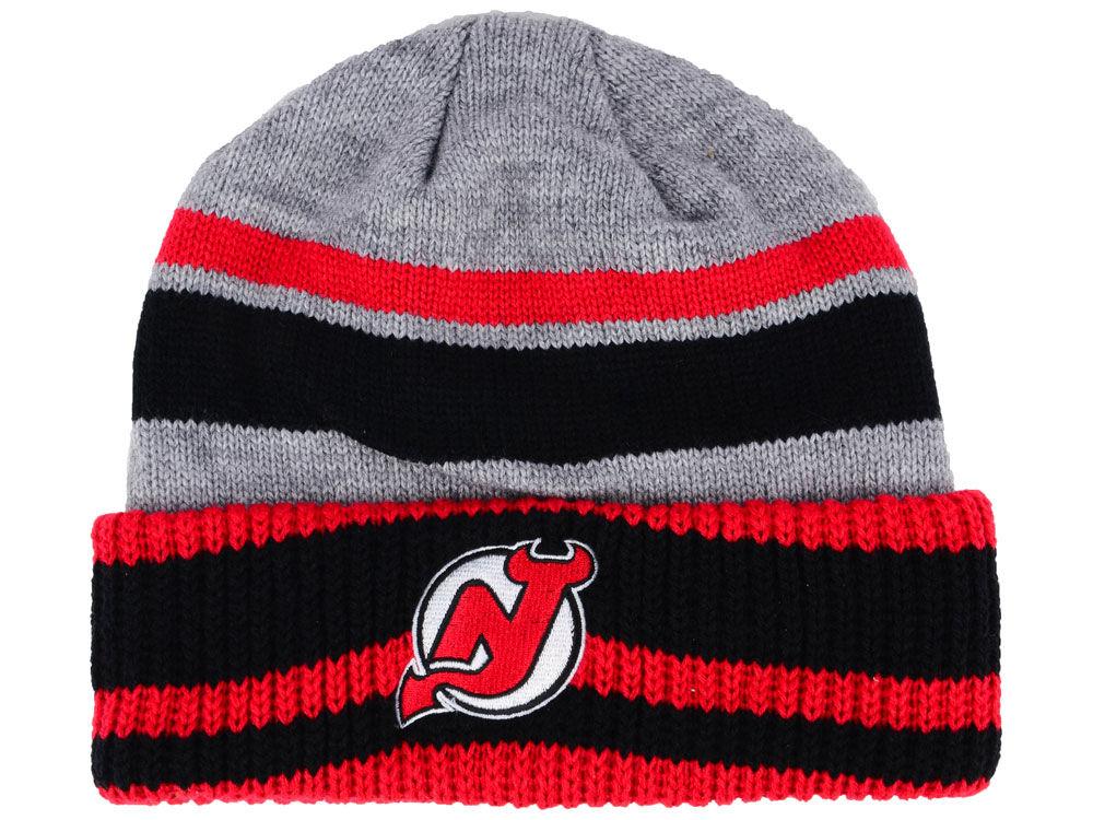 Zimní čepice New Jersey Devils adidas NHL Heathered Grey Beanie