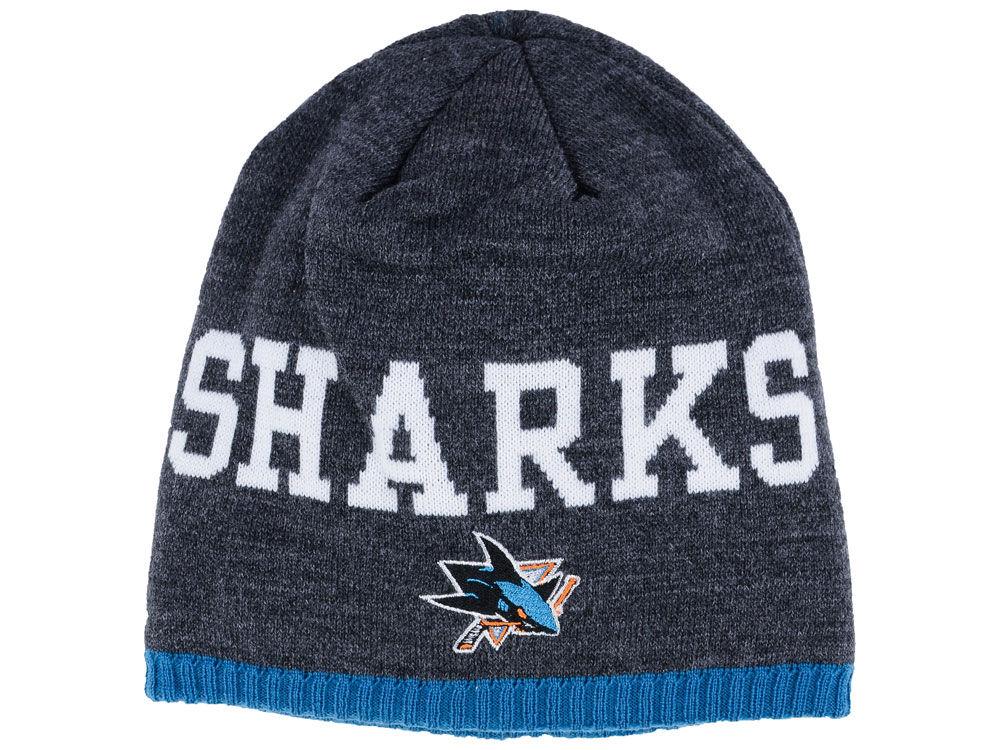 Adidas Zimní čepice San Jose Sharks NHL Heather Beanie 357a95c365