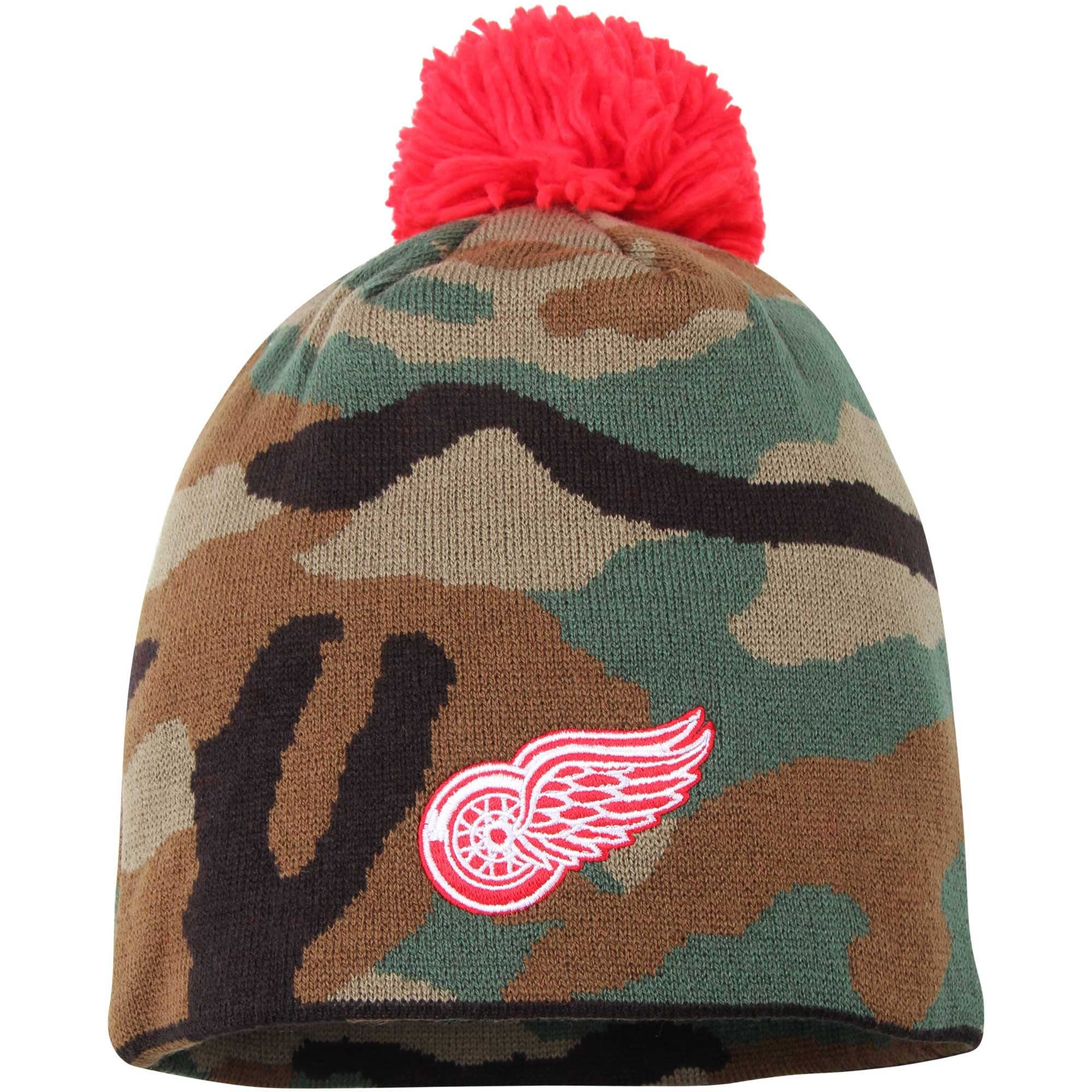 Kulich Detroit Red Wings Reebok Camo Cuffless Knit Beanie With Pom