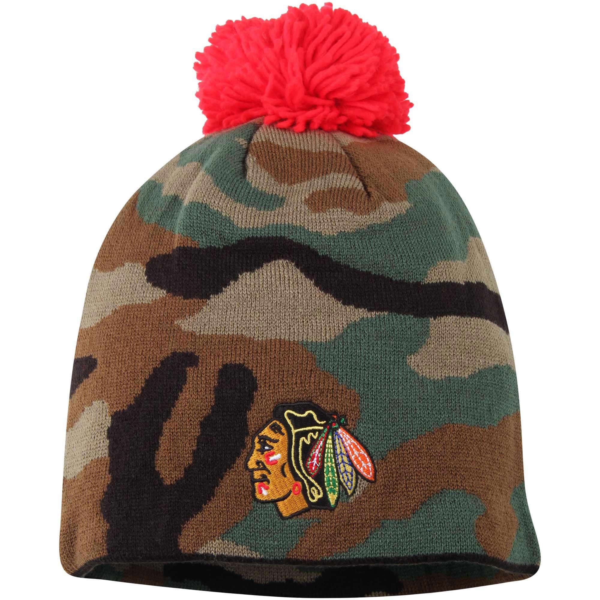 Kulich Chicago Blackhawks Reebok Camo Cuffless Knit Beanie With Pom