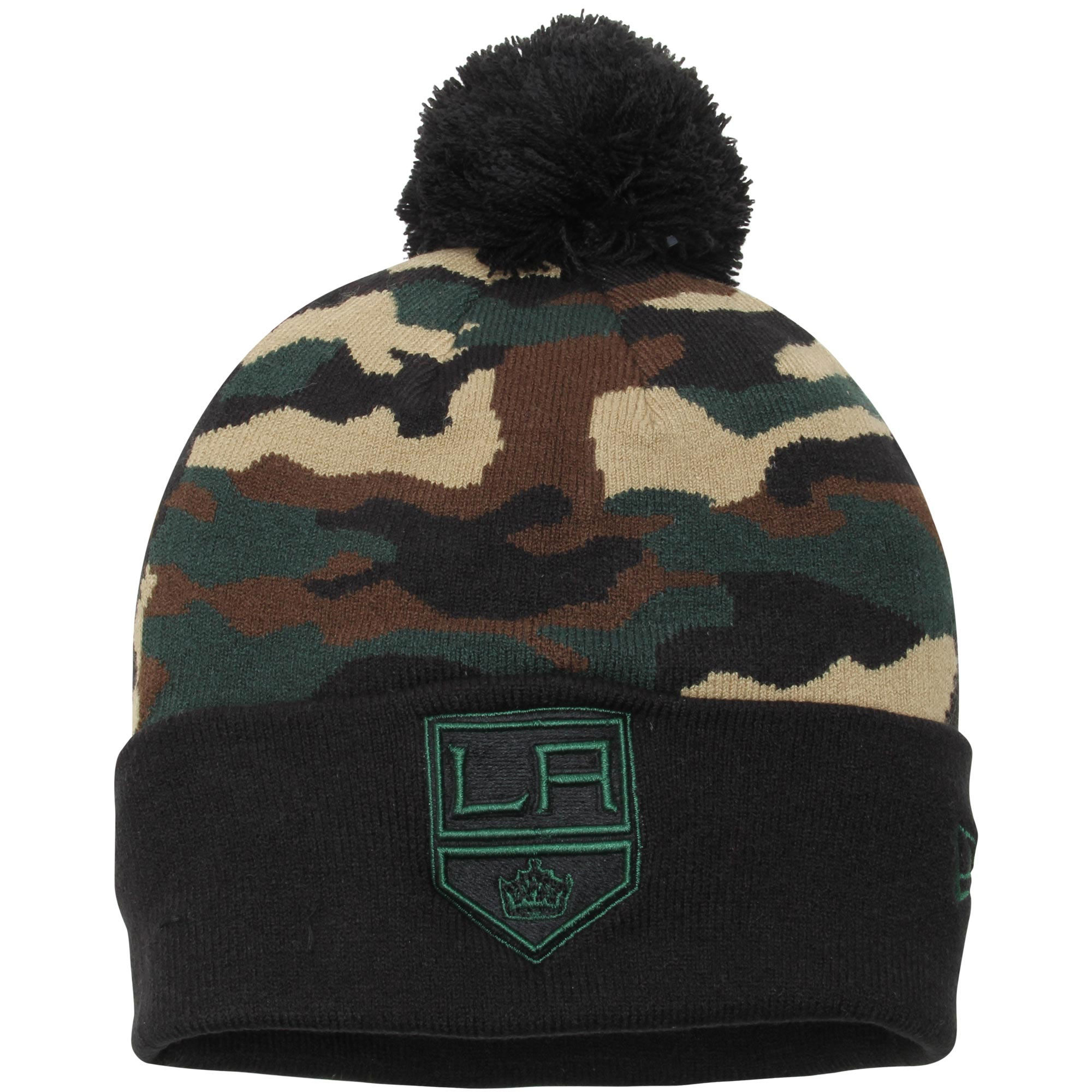 Kulich Los Angeles Kings New Era Camo Top 2 Woodland Knit Beanie