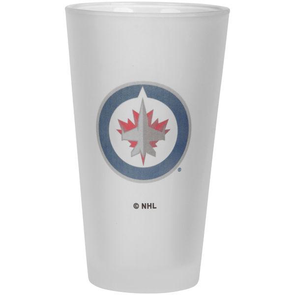 The Memory Company Sklenice Winnipeg Jets Frosted Pint Glass 470 ml