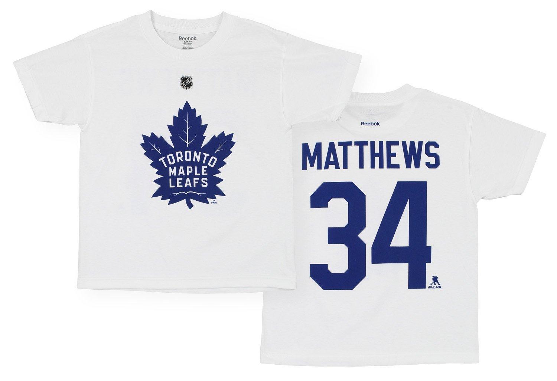 Reebok Dětské Tričko Auston Matthews Toronto Maple Leafs Name & Number Velikost: Dětské M (9 - 11 let)