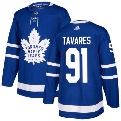Adidas Dres #91 John Tavares Toronto Maple Leafs adizero Home Authentic Pro Velikost: 52 (L)