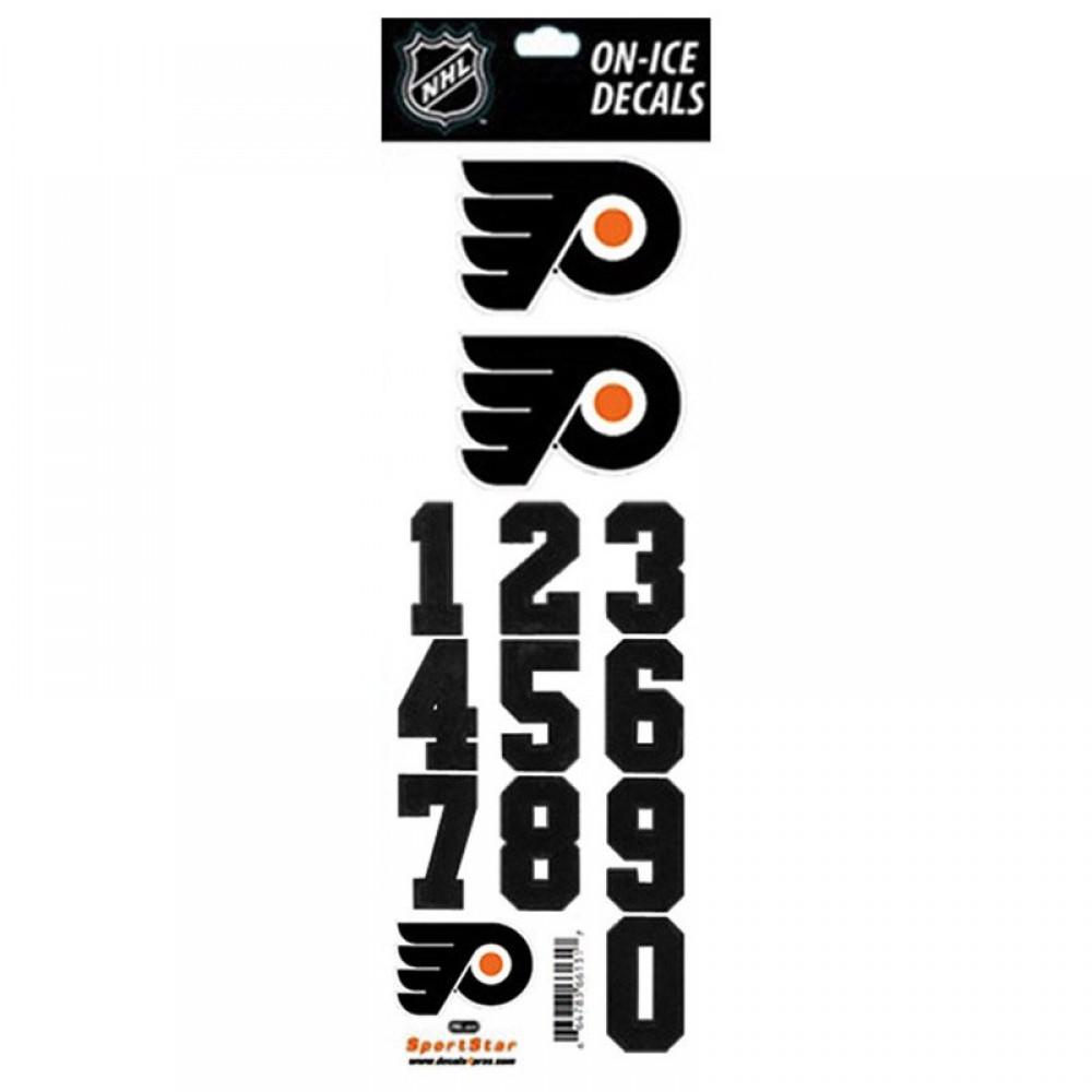 Samolepky na Helmu Philadelphia Flyers Decals