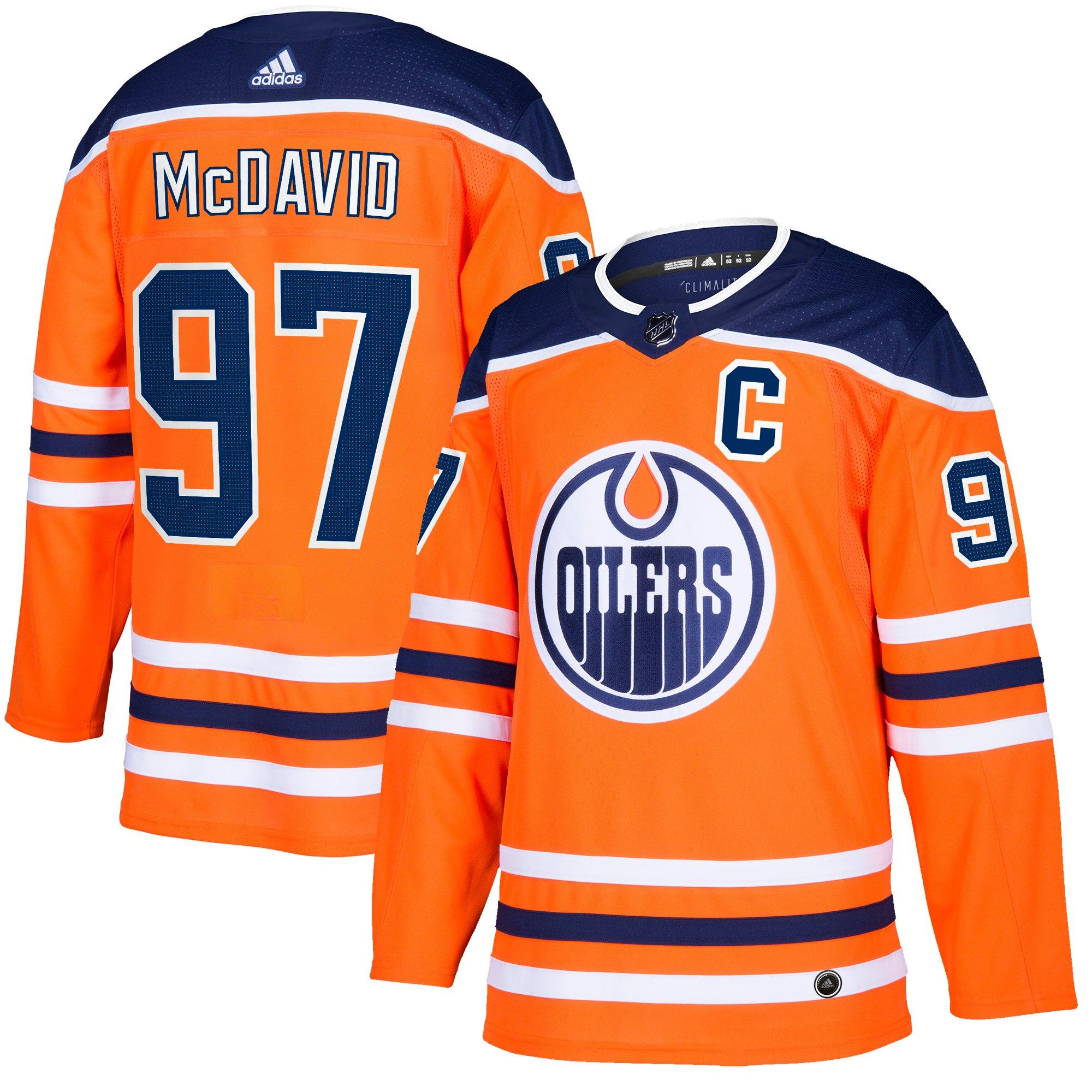 Adidas Dres Edmonton Oilers #97 Connor McDavid adizero Home Authentic Player Pro Velikost: L, Distribuce: USA