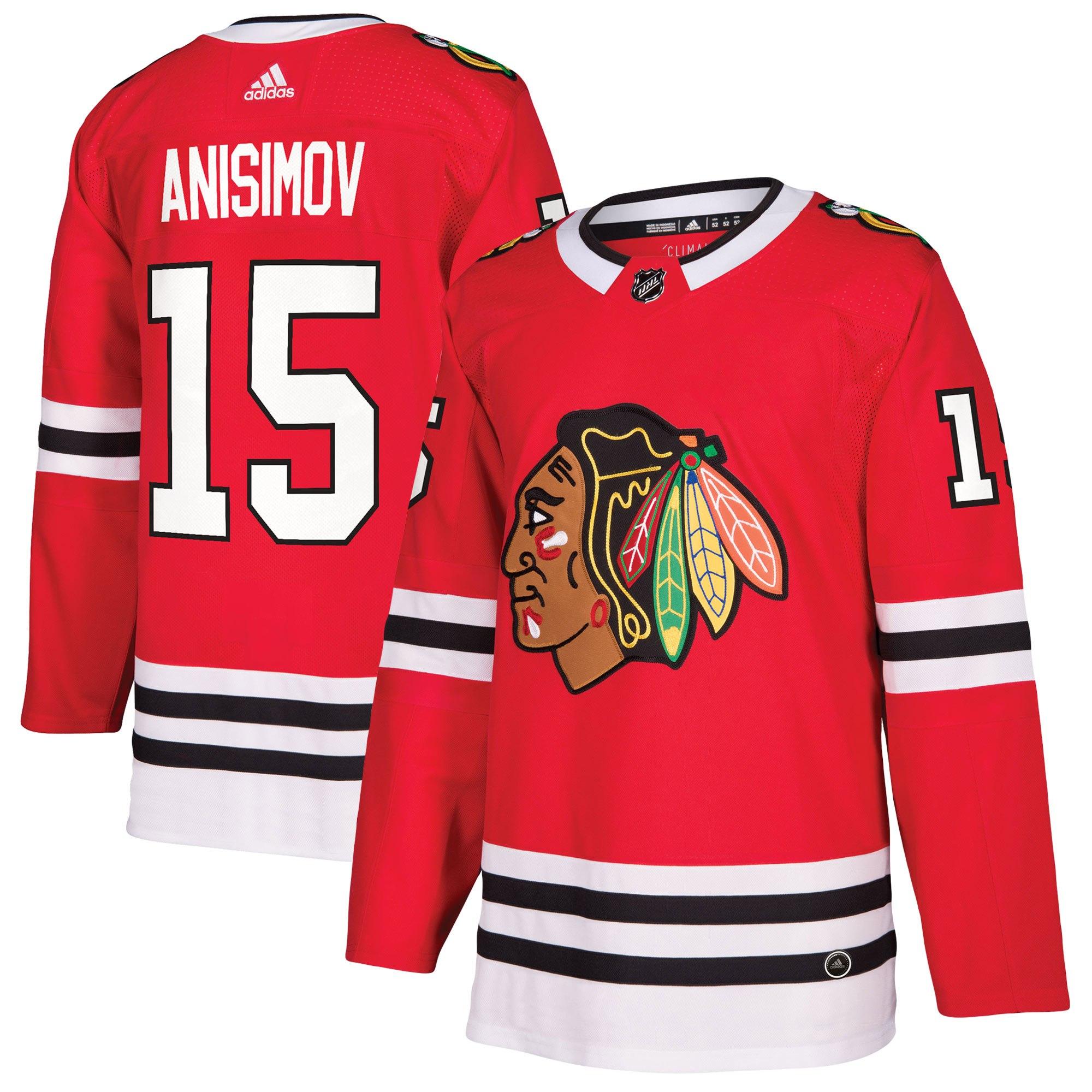 Adidas Dres Chicago Blackhawks #15 Artem Anisimov adizero Home Authentic Player Pro Velikost: L, Distribuce: USA