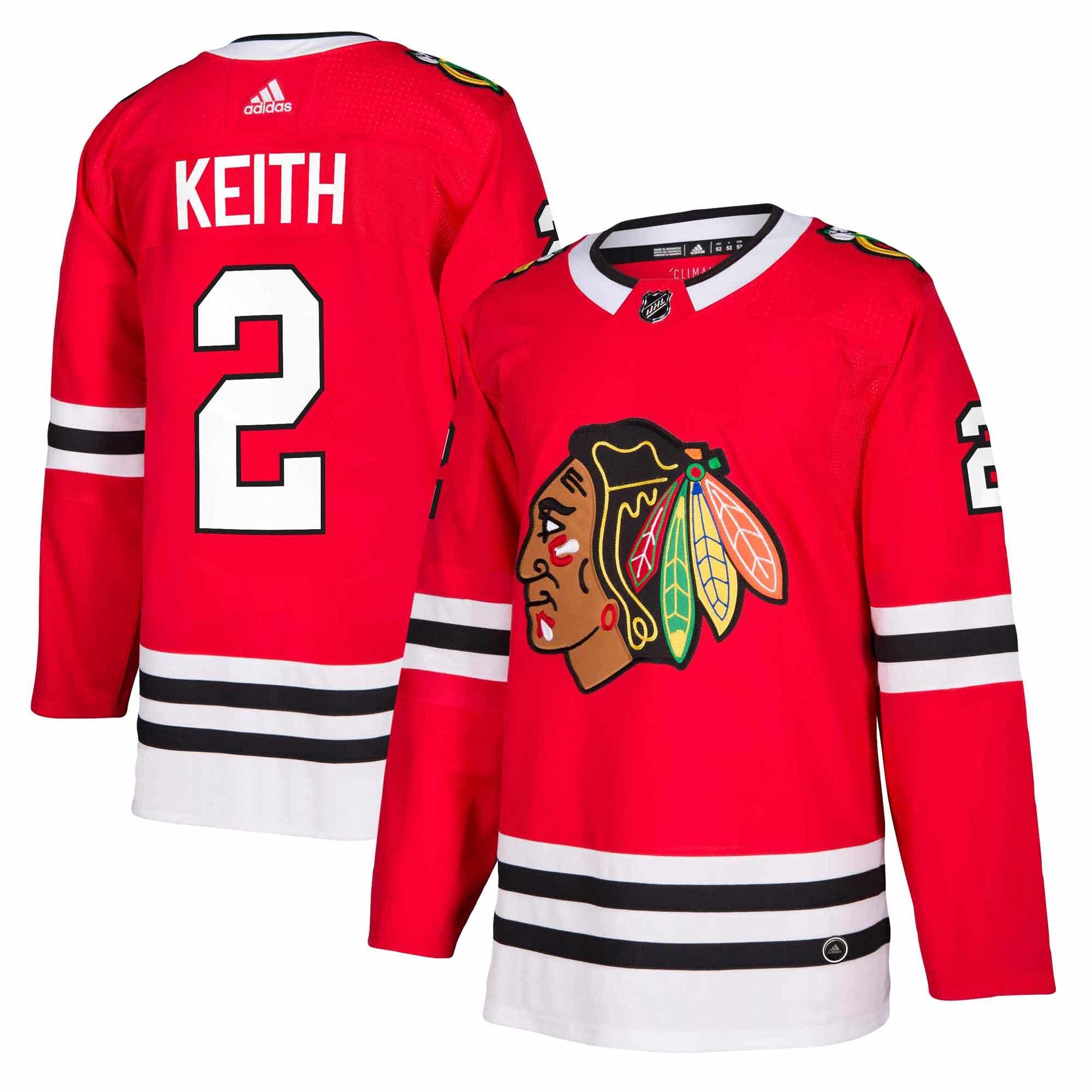 Adidas Dres Chicago Blackhawks #2 Duncan Keith adizero Home Authentic Player Pro Velikost: L, Distribuce: USA