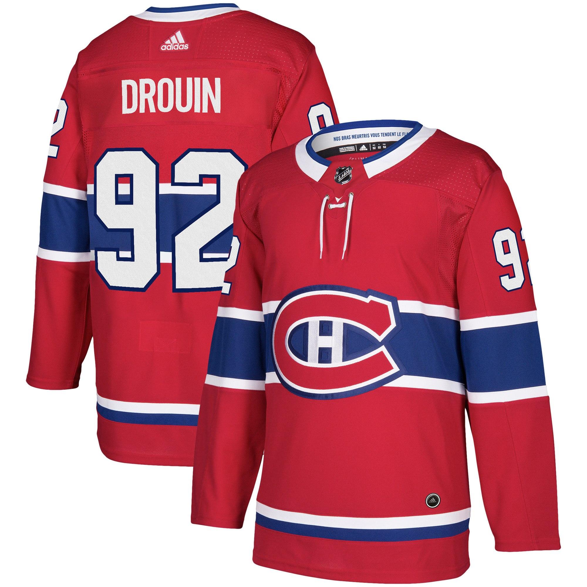 Adidas Dres Montreal Canadiens #92 Jonathan Drouin adizero Home Authentic Player Pro Velikost: L, Distribuce: USA