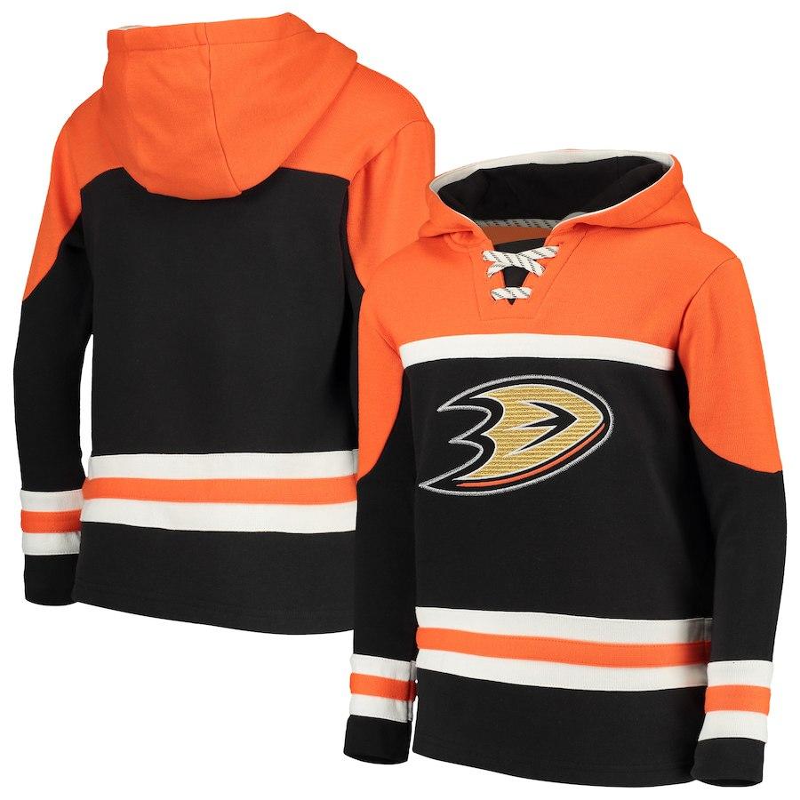 Fanatics Dětská Mikina Anaheim Ducks Asset Lace-Up Pullover Hoodie Velikost: Dětské XL (13 - 15 let)