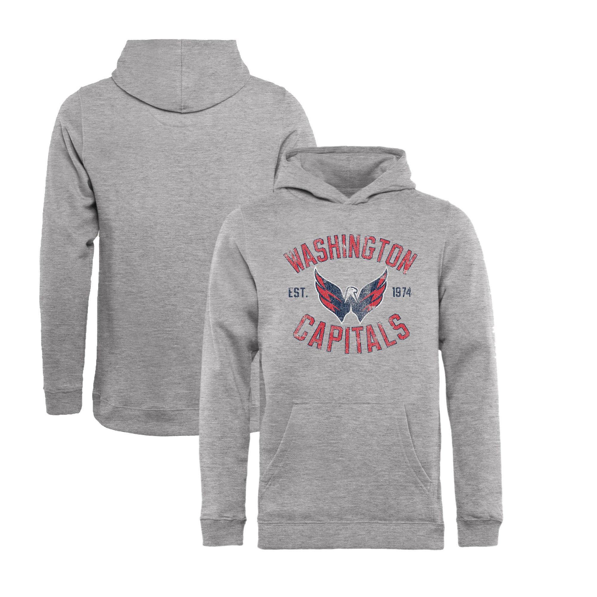 Fanatics Branded Dětská Mikina Washington Capitals Vintage Heritage Pullover Hoodie Velikost: Dětské M (9 - 11 let)