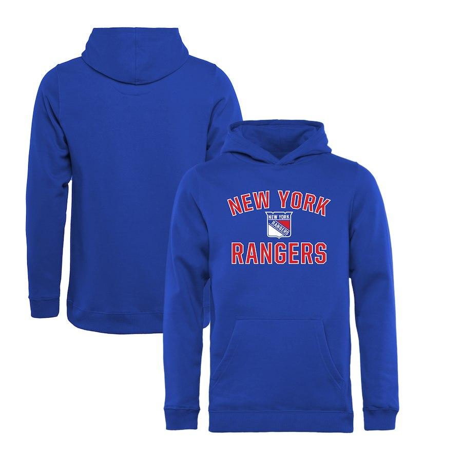 Fanatics Branded Dětská Mikina New York Rangers Victory Arch Pullover Velikost: Dětské M (9 - 11 let)