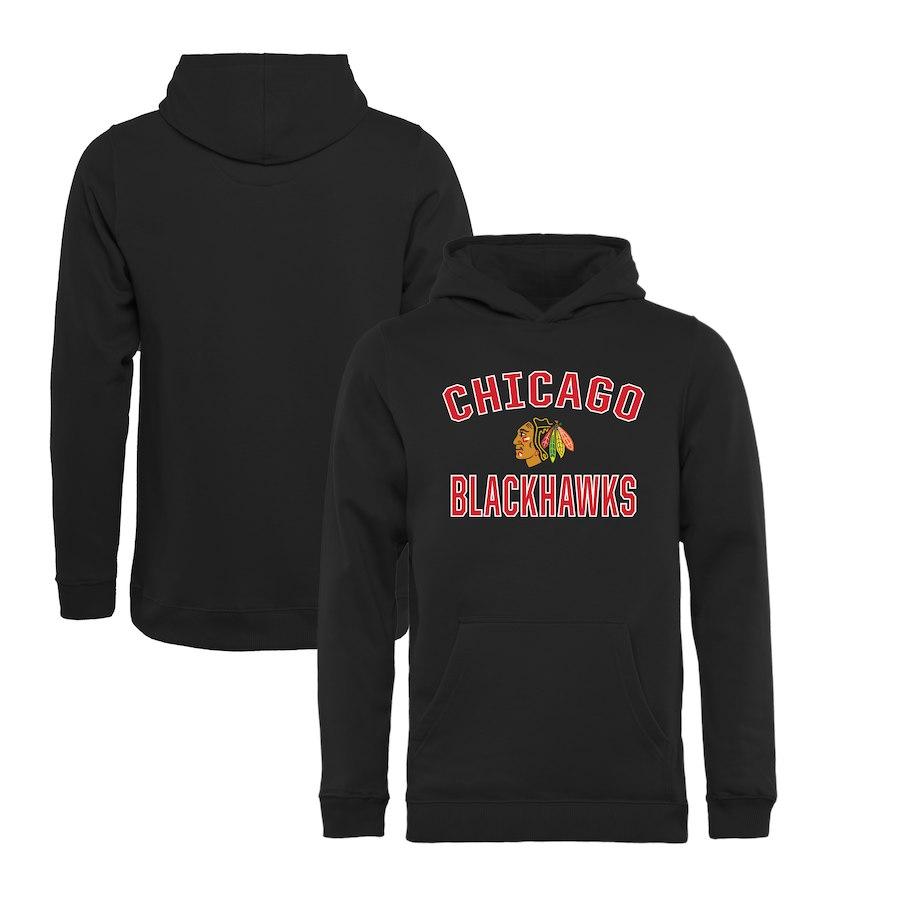 Fanatics Branded Dětská mikina Chicago Blackhawks Victory Arch Pullover Hoodie Velikost: Dětské M (9 - 11 let)