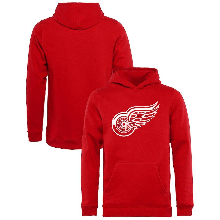 Fanatics Branded Dětská Mikina Detroit Red Wings Primary Logo Hoodie Velikost: Dětské M (9 - 11 let)