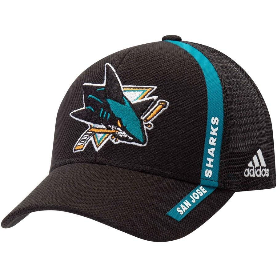 87ebd4d1797 Kšiltovka San Jose Sharks Adidas Charlie Trucker