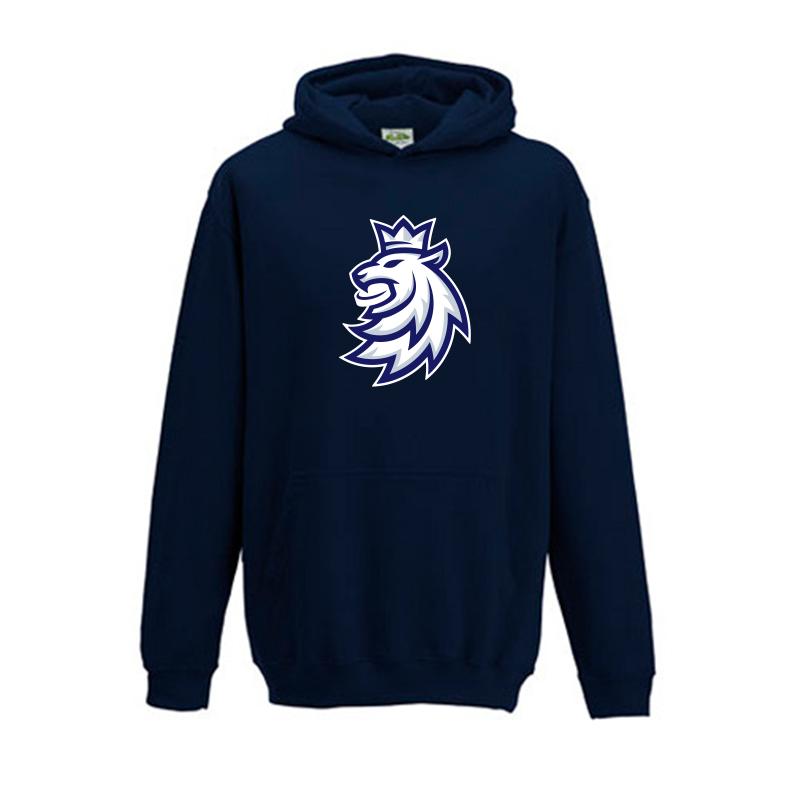 STŘÍDA SPORT Mikina dětská klokanka logo lev ČH navy Velikost: Dětské XL (9-11 let)