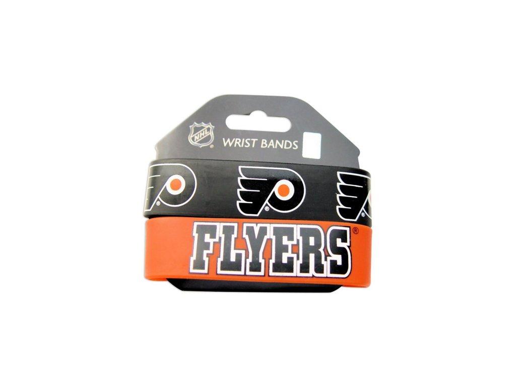 Silikonový náramok - Philadelphia Flyers - 2 kusy