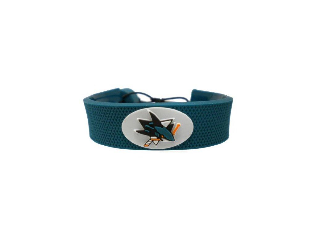 Gumový náramok - San Jose Sharks - zelený