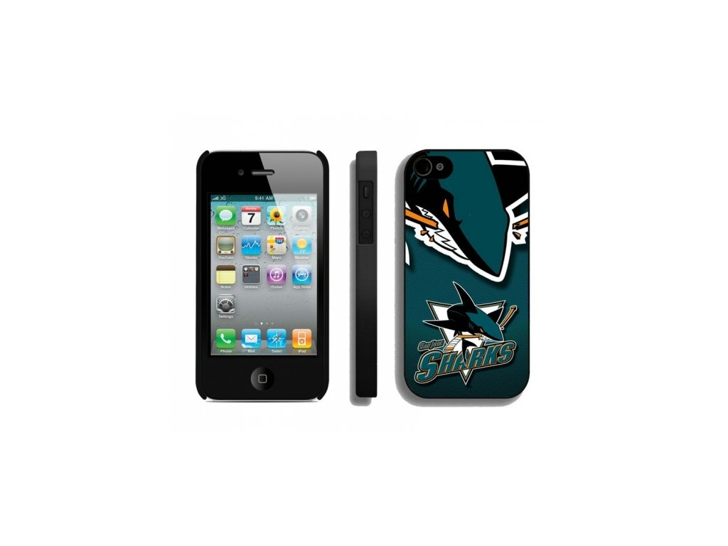 Kryt na iPhone 4/4s - San Jose Sharks - Double logo