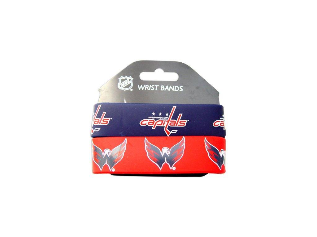 Silikonový náramok - Washington Capitals - 2 kusy