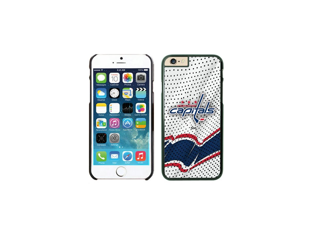Kryt na iPhone 4/4s - Washington Capitals - Away Jersey - biely
