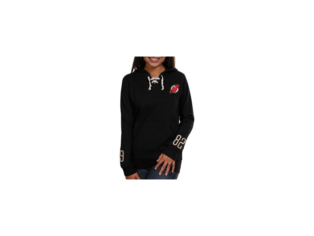 dámska Bunda New Jersey Devils Queensboro Lace-Up Pullover