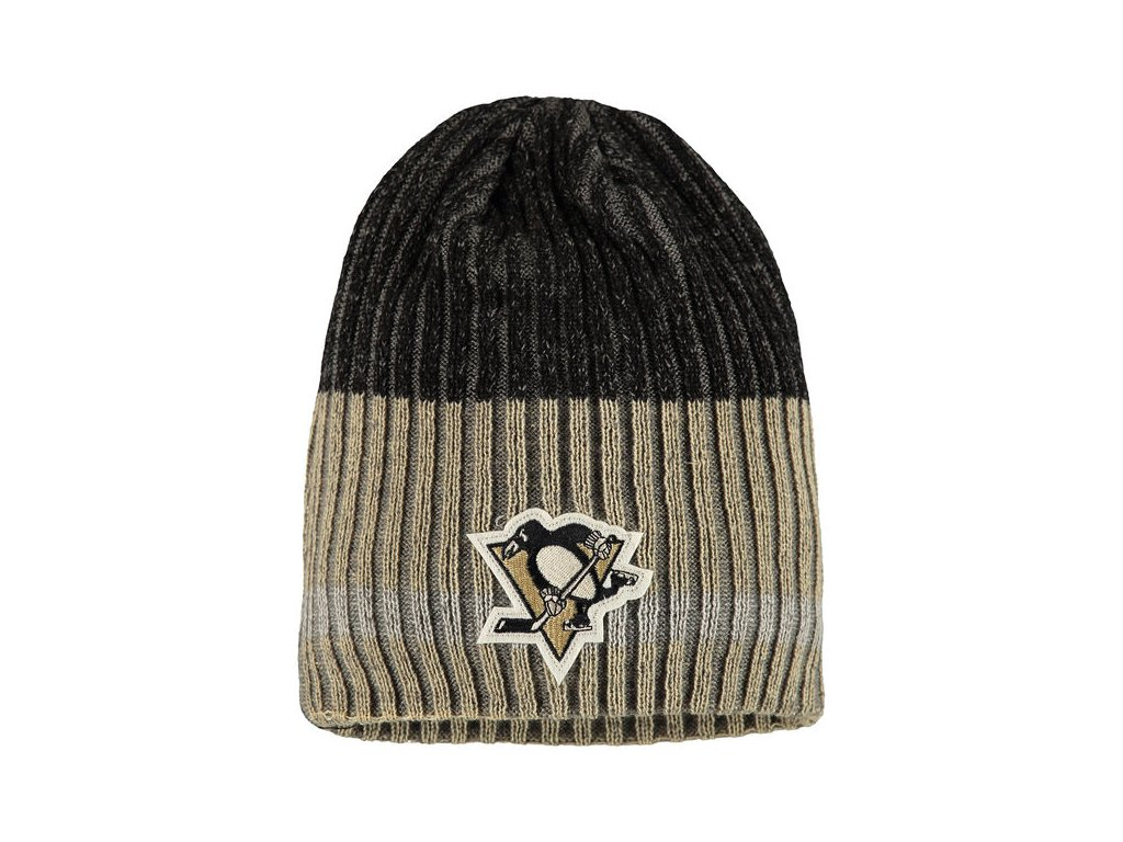 Zimná čiapka Pittsburgh Penguins Reebok Face-Off Heathered Knit Beanie