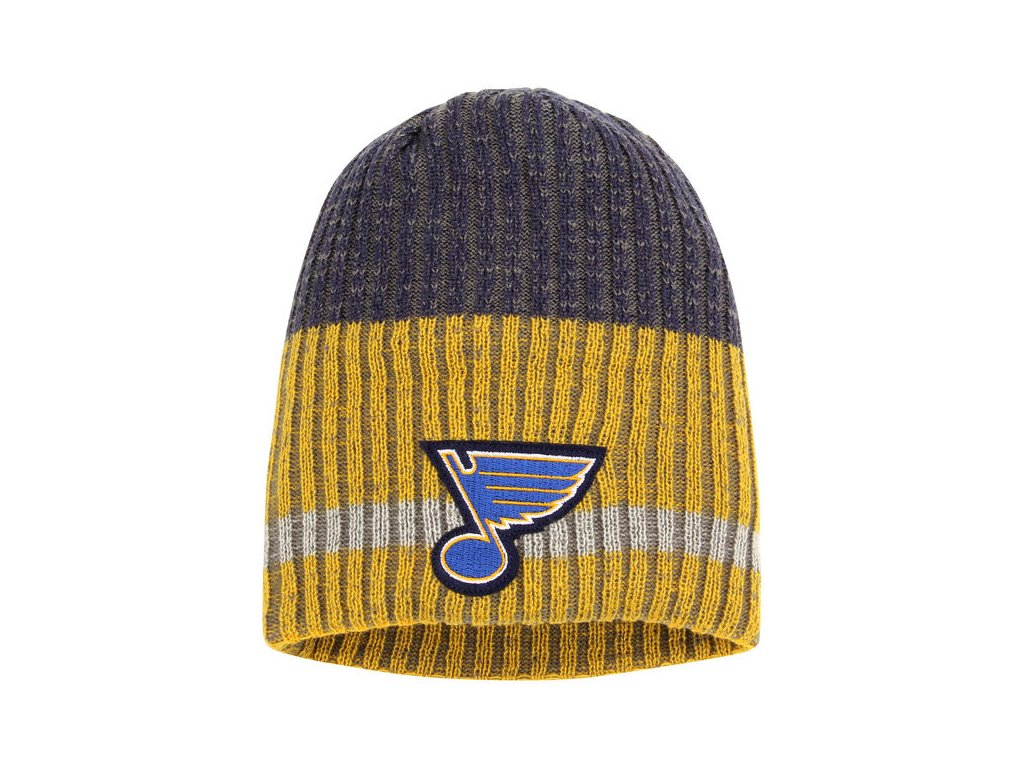 Zimná čiapka St. Louis Blues Reebok Face-Off Heathered Knit Beanie