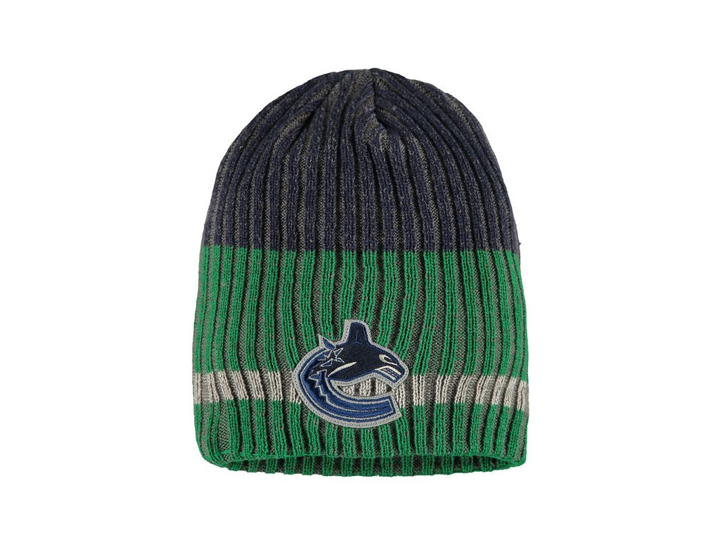 Zimná čiapka Vancouver Canucks Reebok Face-Off Heathered Knit Beanie