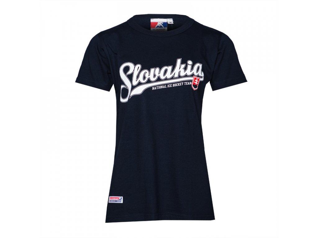 Dámske tričko SLOVAKIA ICE HOCKEY NAVY