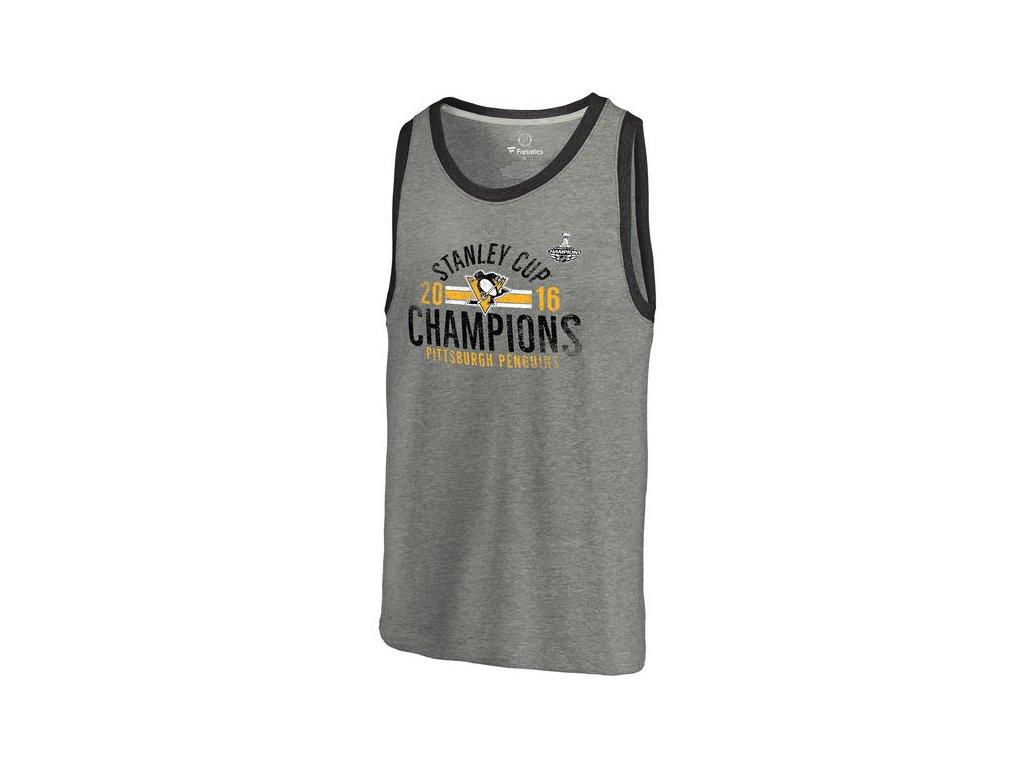 Tričko Pittsburgh Penguins 2016 Stanley Cup Champions Tri-Blend Tank Top