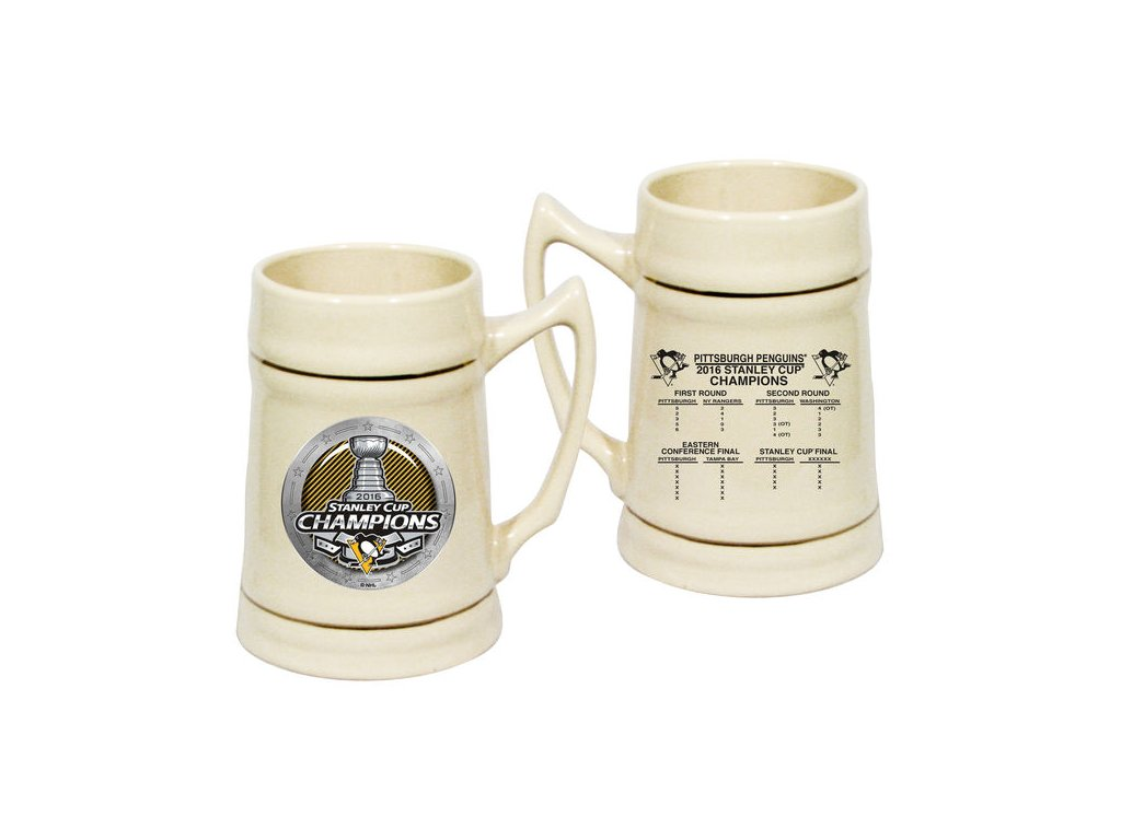 Pohár Pittsburgh Penguins 2016 Stanley Cup Champions Stein