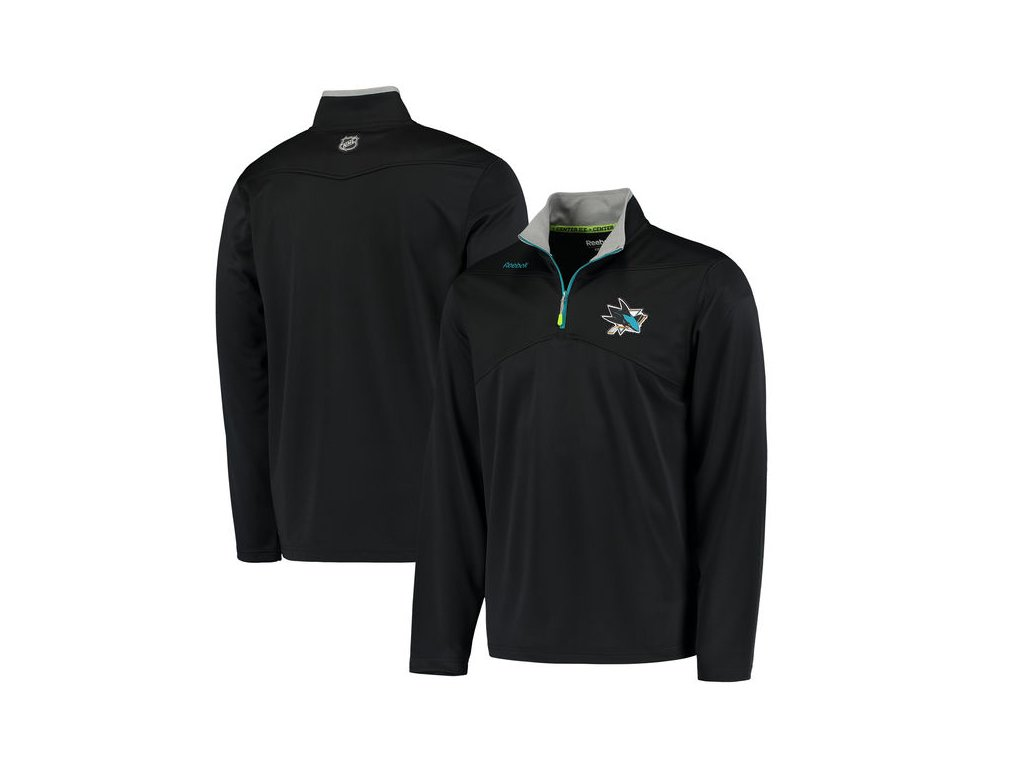 Mikina San Jose Sharks Center Ice Quarter-Zip Baselayer (Velikost S, Distribuce USA)