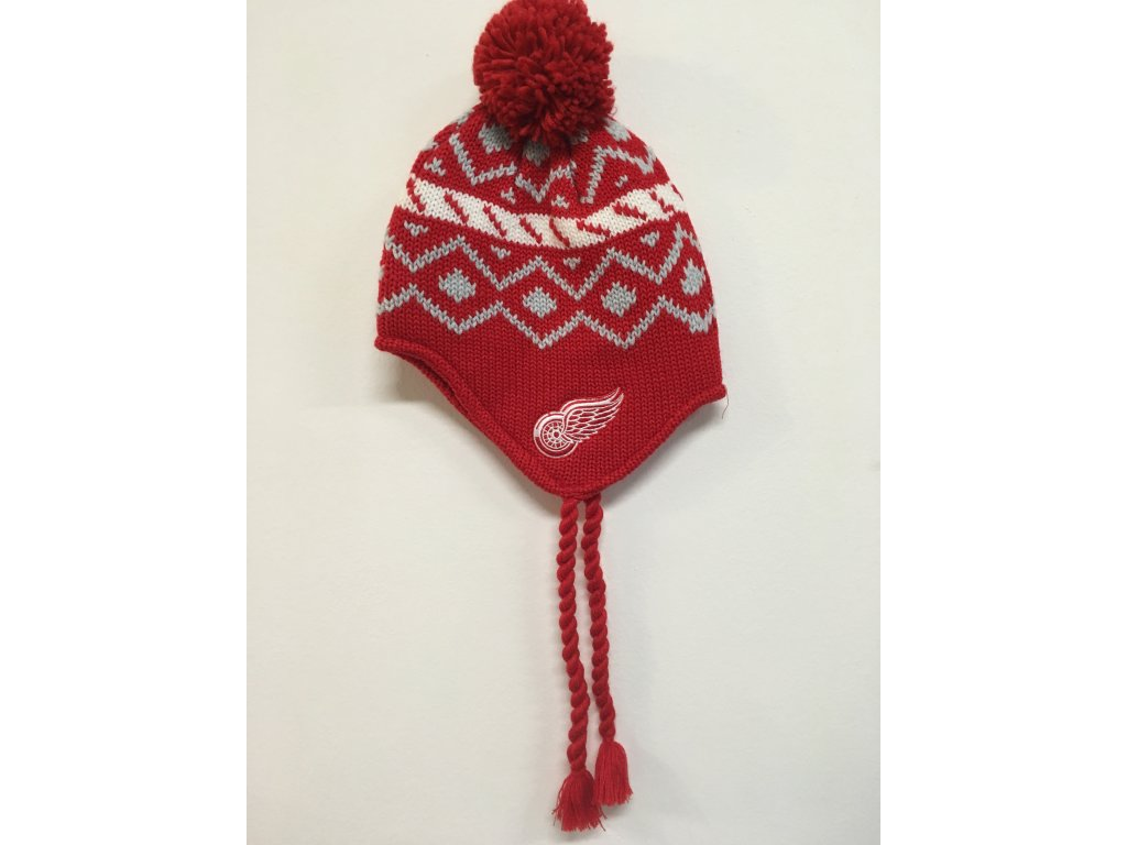 Zimná Čiapka Detroit Red Wings Tassel Knit 16