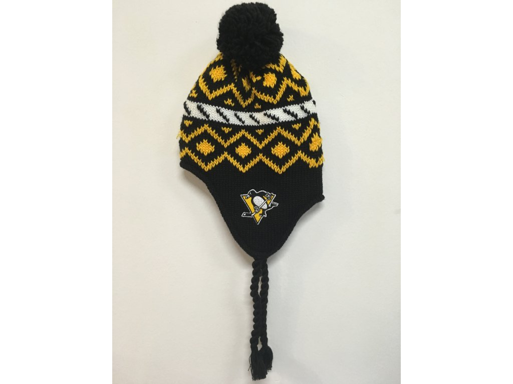 Zimná Čiapka Pittsburgh Penguins Tassel Knit 16