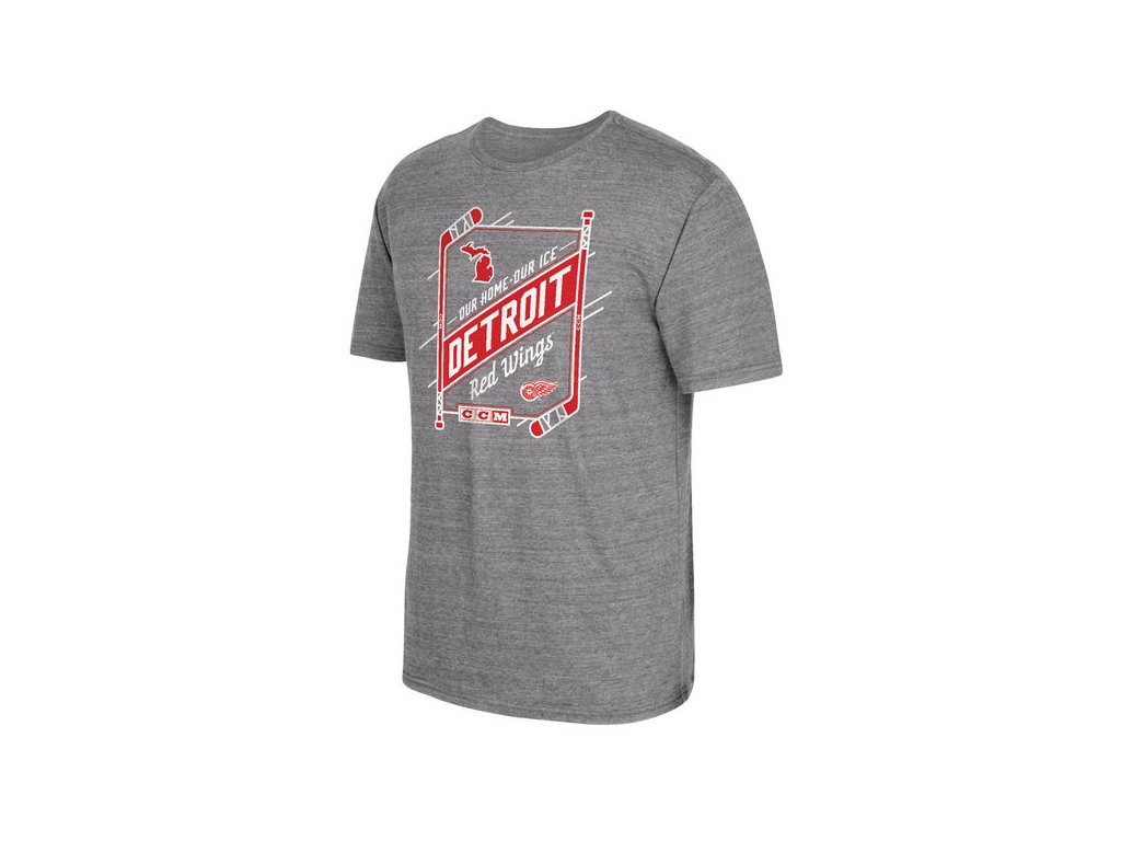 Tričko Detroit Red Wings Our Home Our Ice (Velikost S, Distribuce USA)