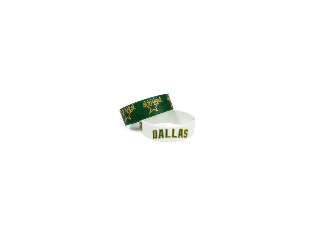 Silikonový náramok - Dallas Stars - 2 kusy