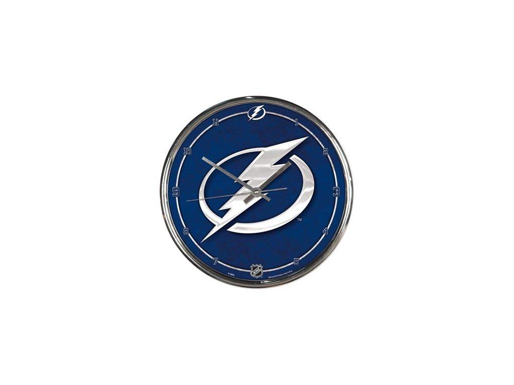 NHL Nástenné hodiny Tampa Bay Lightning Chrome
