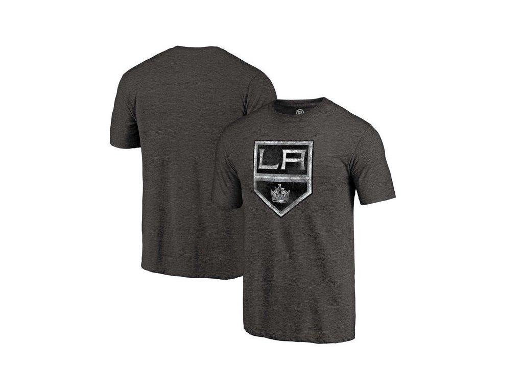 Tričko Los Angeles Kings Distressed Primary Logo Tri-Blend