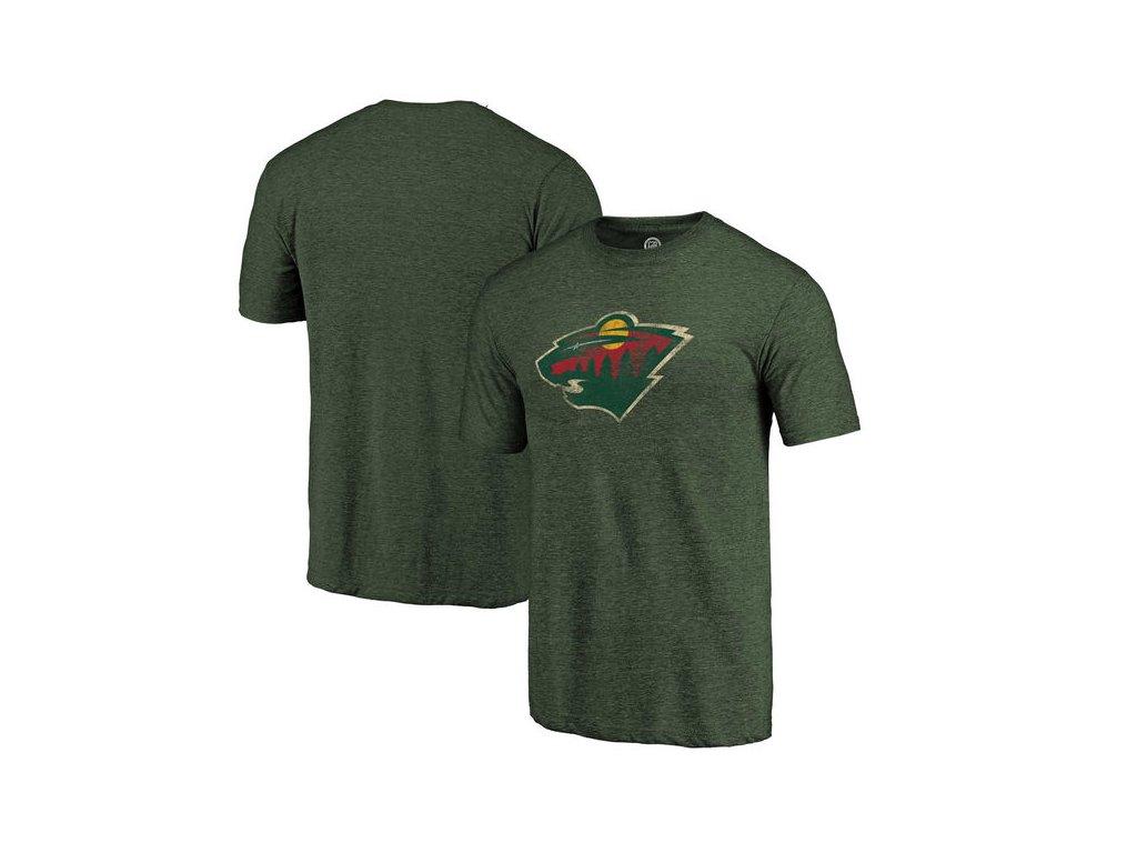 Tričko Minnesota Wild Distressed Primary Logo Tri-Blend