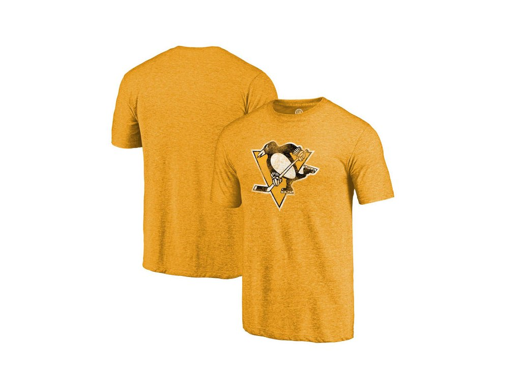 Tričko Pittsburgh Penguins Distressed Primary Logo Tri-Blend