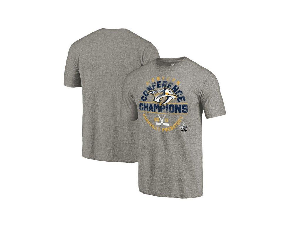 Tričko Nashville Predators 2017 Western Conference Champions Icing Tri-Blend