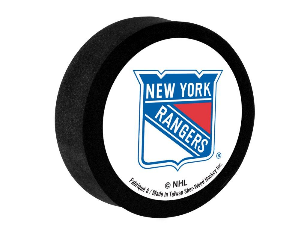 Penový puk New York Rangers Sher-Wood