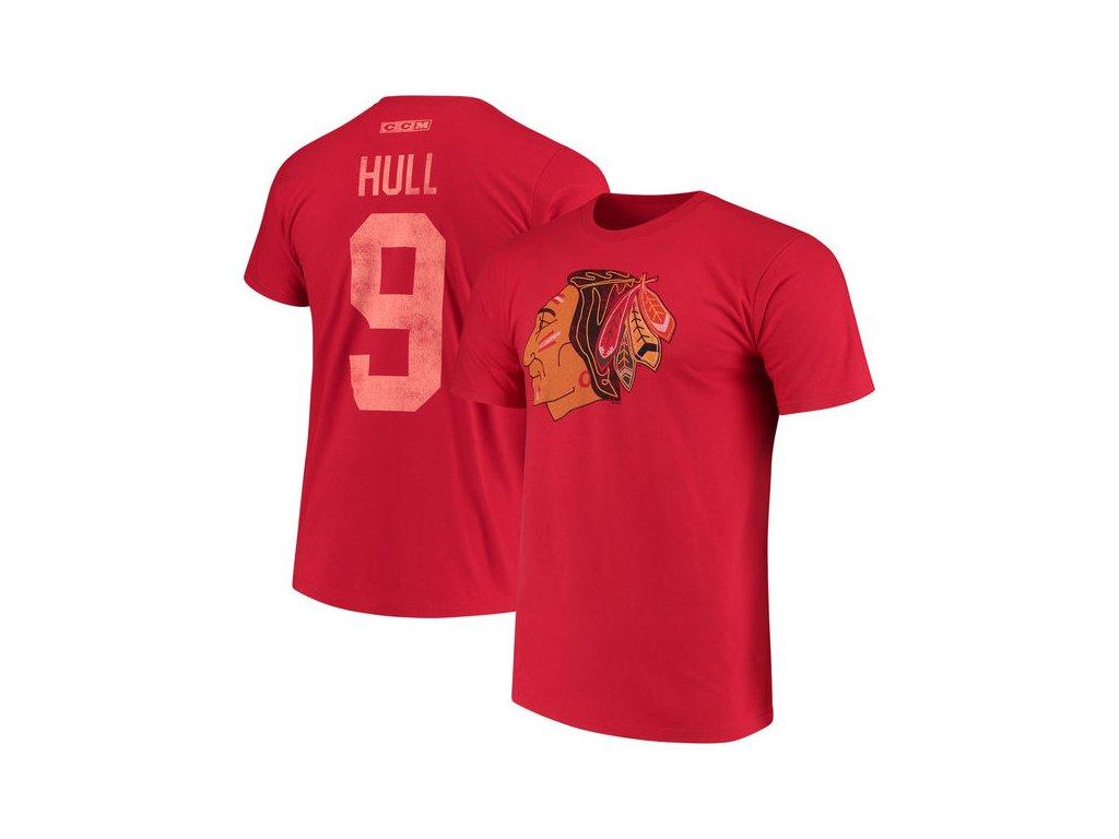 Tričko #9 Bobby Hull Chicago Blackhawks Retired