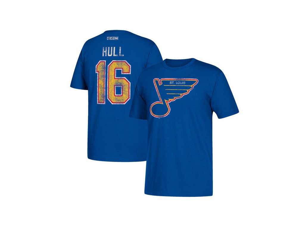 Tričko #16 Brett Hull St. Louis Blues Retired